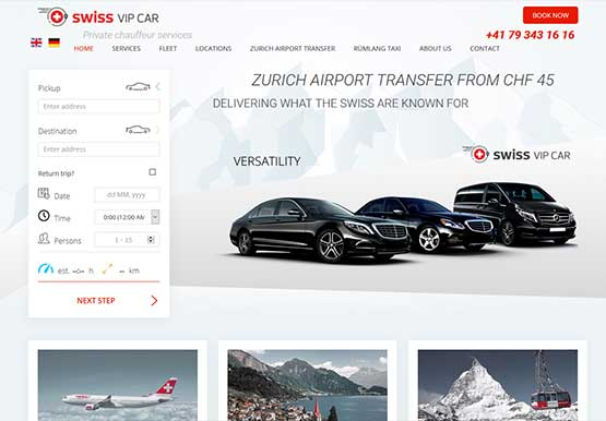 Re-Design web site for airport transfer