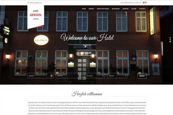 Creating Web site for Hotel Gerson, Germany
