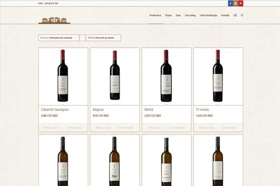 Creating online shop for a Winery Shapat